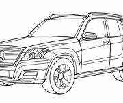 Coloring pages Mercedes 4 × 4 car