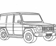 Coloring pages Mercedes 4x4 class G