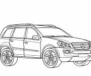 Coloring pages Mercedes 4x4 coloring