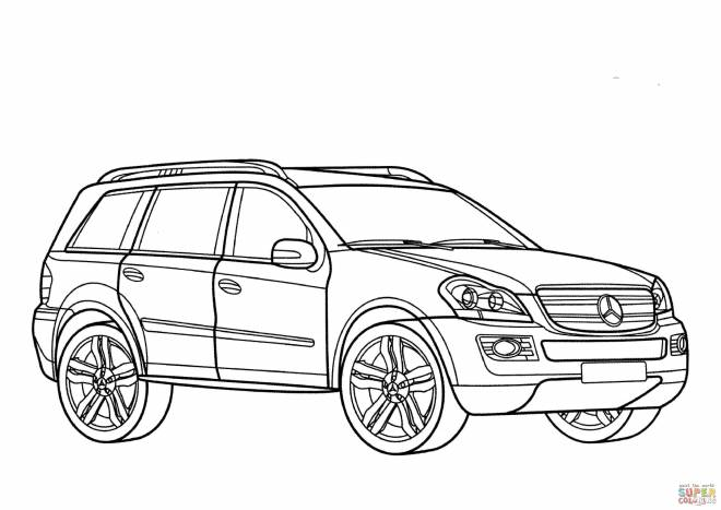 Free coloring and drawings Mercedes 4x4 coloring Coloring page