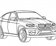 Coloring pages Mercedes 4x4 GLC Coupe