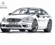 Coloring pages Mercedes AMG stylized