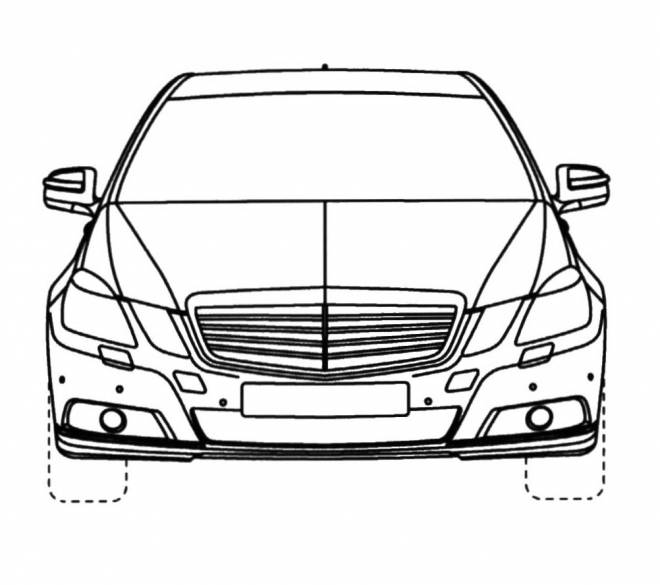 Free coloring and drawings Mercedes Benz car to cut Coloring page