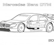 Free coloring and drawings Mercedes Benz DTM Coloring page