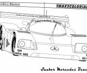 Free coloring and drawings Mercedes C9 racing Coloring page