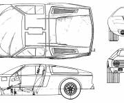 Coloring pages Mercedes car technical plan