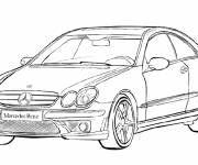 Free coloring and drawings Mercedes Class A Coloring page