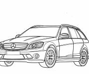 Free coloring and drawings Mercedes in color Coloring page