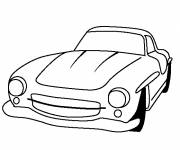 Coloring pages Mercedes old model