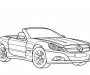 Free coloring and drawings Mercedes SLS Coloring page