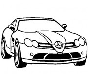 Coloring pages Mercedes SLS amg