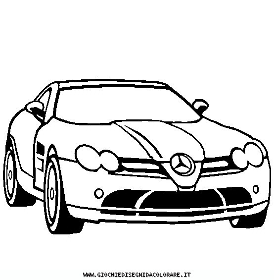Free coloring and drawings Mercedes SLS amg Coloring page