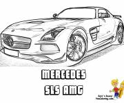 Coloring pages Mercedes SLS AMG realistic