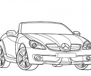 Coloring pages Mercedes SLS AMG Roadster