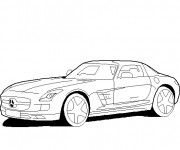 Free coloring and drawings Mercedes sport Coloring page