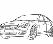 Free coloring and drawings Mercedes stylized Coloring page