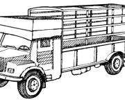 Coloring pages Mercedes truck model