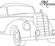 Coloring pages Old Mercedes coloring