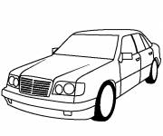 Coloring pages Simple Mercedes car