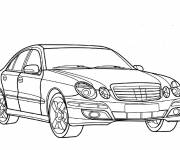 Free coloring and drawings Stylised Mercedes car Coloring page
