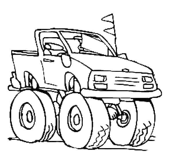 Free coloring and drawings 4 X 4 Easy Race Coloring page