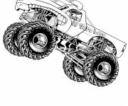 Coloring pages 4 X 4 racing monster