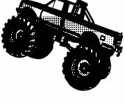 Coloring pages A Monster Truck Vehicle in Black