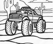 Coloring pages American Monster Truck