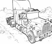 Coloring pages American truck