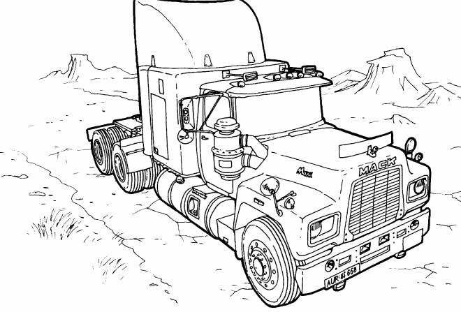 Free coloring and drawings American truck Coloring page