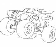 Coloring pages Batman Monster Truck easy