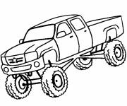 Free coloring and drawings Easy pickup truck Coloring page