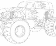 Coloring pages Fantastic monster truck