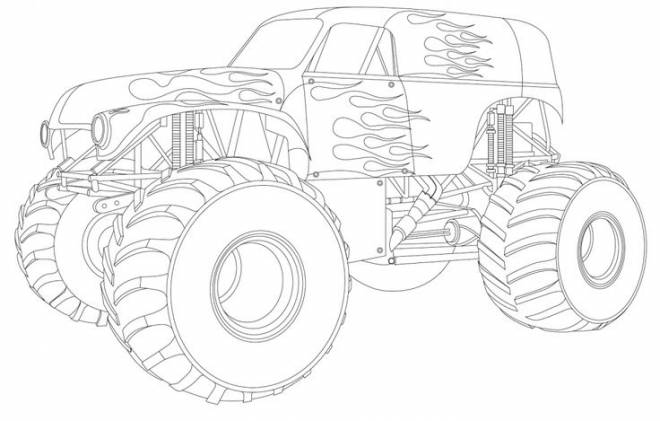 Free coloring and drawings Fantastic monster truck Coloring page