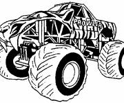 Coloring pages Giant Monster Truck