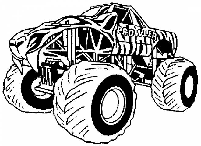 Free coloring and drawings Giant Monster Truck Coloring page