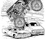Coloring pages Grave Digger Monster Jam