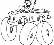 Coloring pages Humorous Monster Truck Driver