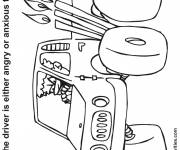 Coloring pages mad truck driver