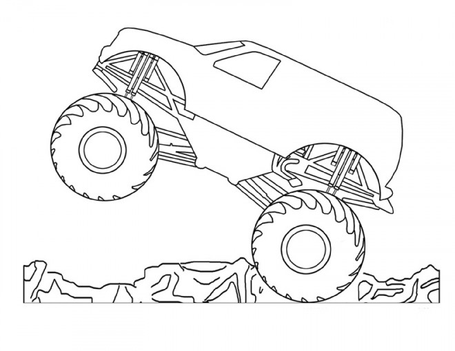 Free coloring and drawings Monster machine Coloring page