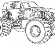 Coloring pages Monster Truck Bounty hunter