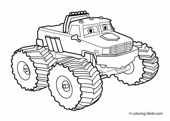 Free coloring and drawings Monster Truck coloring for free Coloring page