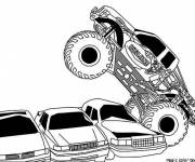Coloring pages Monster Truck Crashes Cars