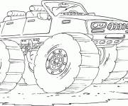 Coloring pages Monster Truck drives fast