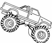 Free coloring and drawings Monster Truck easy to download Coloring page