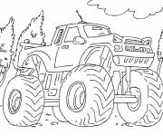 Coloring pages Monster Truck for racing