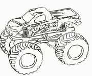 Free coloring and drawings Monster Truck Grave Digger Coloring page