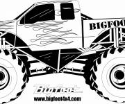 Coloring pages Monster Truck in black and white
