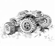 Coloring pages Monster Truck in pencil