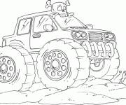 Coloring pages Monster Truck in the desert
